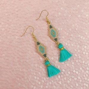 Boho Miyuki Beads Tassel Dangle Earrings